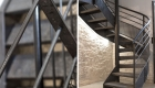 Escalier d'accueil du coworking
